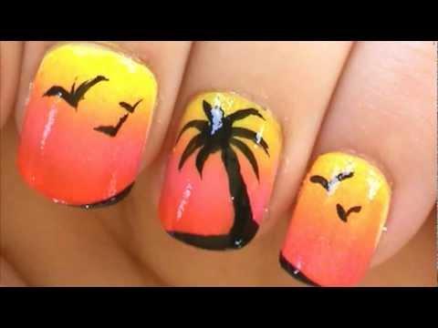 Фото ногтей с пальмами